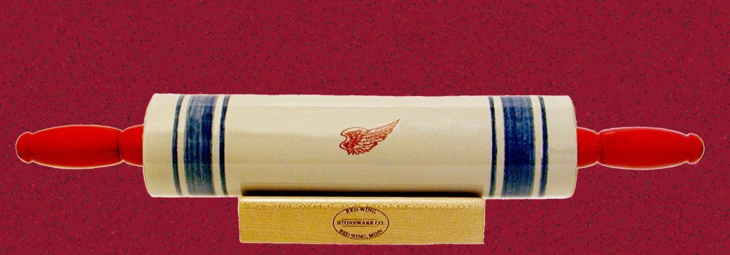 rolling pin red wing stoneware amp pottery