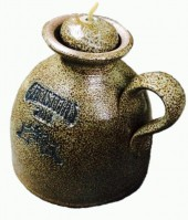 pottery oil lamp